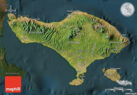 satellite map  bali darken