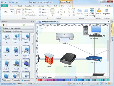 detail network diagram software  examples