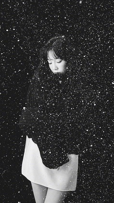 papersco iphone wallpaper ho snow girl snsd taeyeon