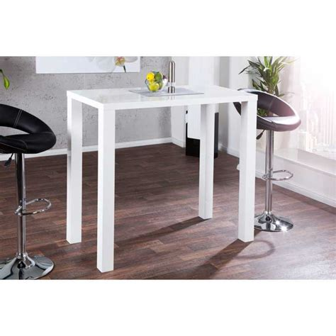 tables de bar table haute de bar blanc laqu 233 genf d un design par