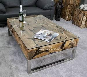 Couchtisch Glas Holz : couchtisch aus altholz mit edelstahl und glas der tischonkel ~ Eleganceandgraceweddings.com Haus und Dekorationen