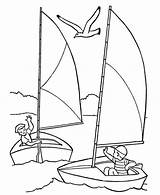Boat Coloring Sailing Pages Simple Ship Sailboat Drawing Getcolorings Getdrawings Printable Colorin sketch template