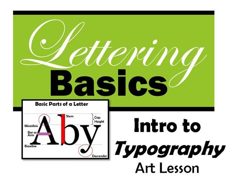 intro to typography lettering basics lesson plan lesson 1 create art with me