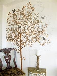 wall stencil large tree walls stencils plaster stencils With large tree template for wall