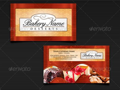 catering business card templates psd pages word