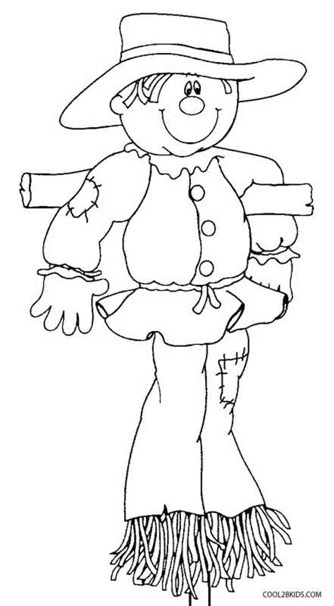 printable scarecrow coloring pages  kids coolbkids