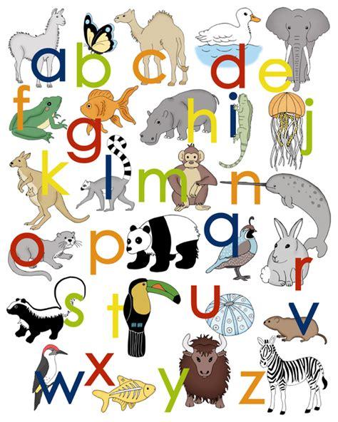 alley kids animal alphabet poster