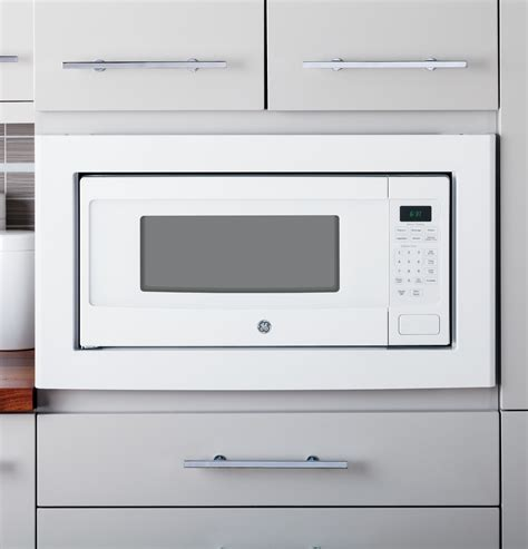 pemdfww ge profile  cu ft microwave oven countertop  built  white