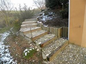 Escalier D Extérieur : cr ation d 39 un escalier ext rieur les jardiniers du s gala ~ Preciouscoupons.com Idées de Décoration
