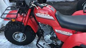Honda Big Red 250 1986 - Start And Rev U0026 39 S
