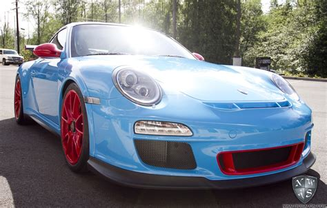 porsche gt3 rs wrap rare riviera blue porsche gt3 rs complete vehicle clear