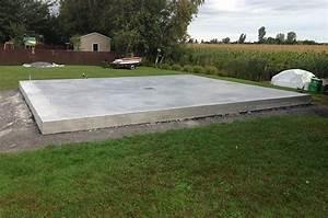Dalle De Jardin Beton : comment faire une dalle en b ton pour un abri de jardin beton expert ~ Melissatoandfro.com Idées de Décoration