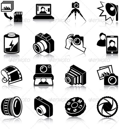 photography icons  plutofrosti graphicriver