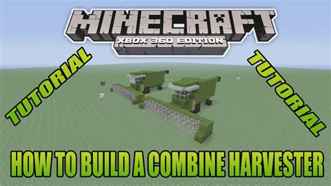 Minecraft Xbox Edition Tutorial How To Build A Combine