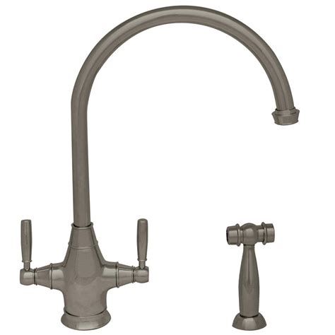 whitehaus kitchen faucet whitehaus collection queenhaus 2 handle standard kitchen faucet with side sprayer in brushed
