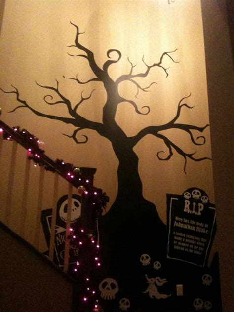halloween creepy tree wall decal nightmare