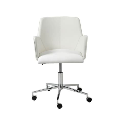 white office desk chair white swivel office chair office chairs