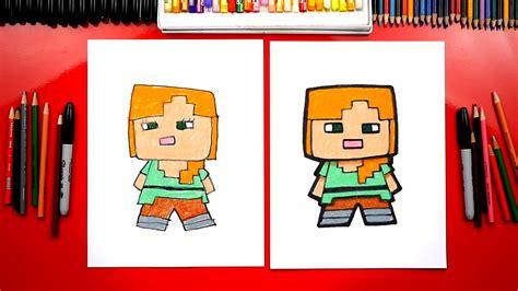 draw alex  minecraft art  kids hub