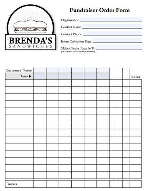 fundraising template 6 fundraiser order form templates website