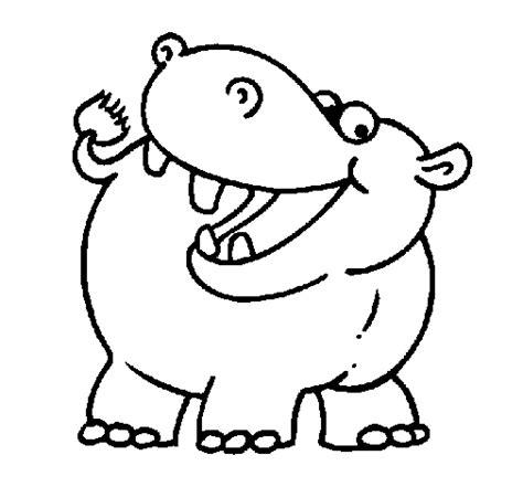 Hipopotamos animados para colorear Imagui