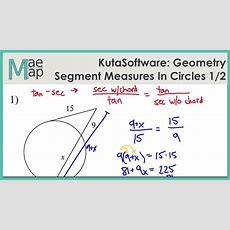 Kutasoftware Geometry Segment Lengths In Circles Part 1 Youtube