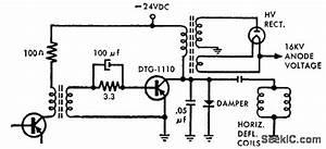 Horizontal Deflection - Electrical Equipment Circuit - Circuit Diagram