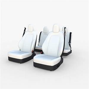Tesla Model Y Seats White | CGTrader