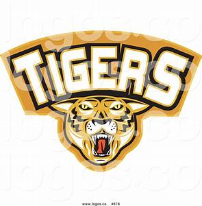 Royalty Free Vector Logo of a Tigers with Text by ...