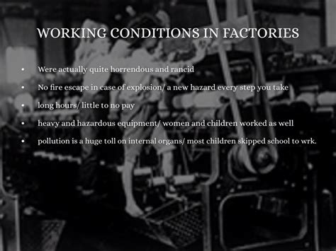 Industrial Revolution Factory Conditions Quotes