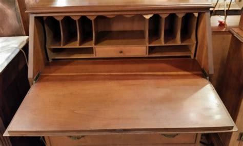 drop front desk lock chippendale style maple drop front desk sold wren wood