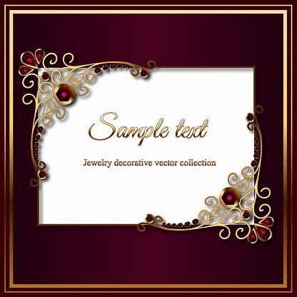 vintage card  diamond  ruby jewelry decoration gold