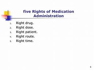administering medication ppt video online download With 6 rights of medication