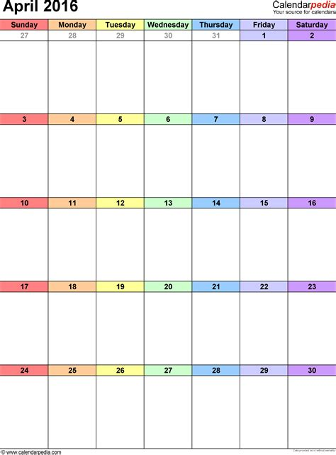 calendars month write calendar template