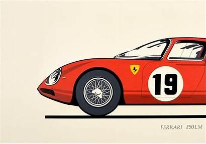 Ferrari Poster Sports Advertising 250lm Motor Paris