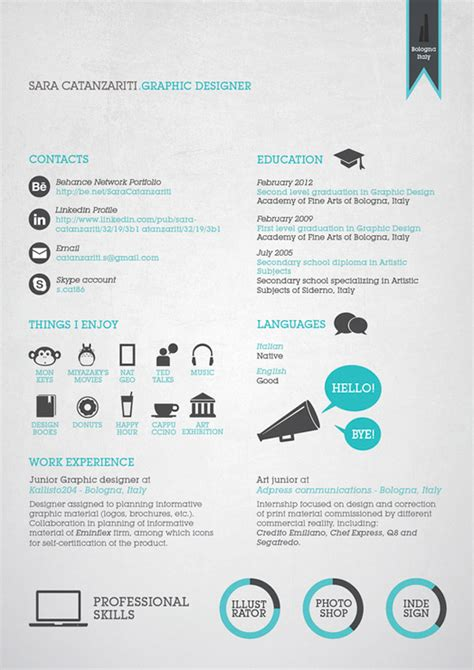 Most Creative Graphic Design Resumes by Creative Resume Designs That Will Land You The