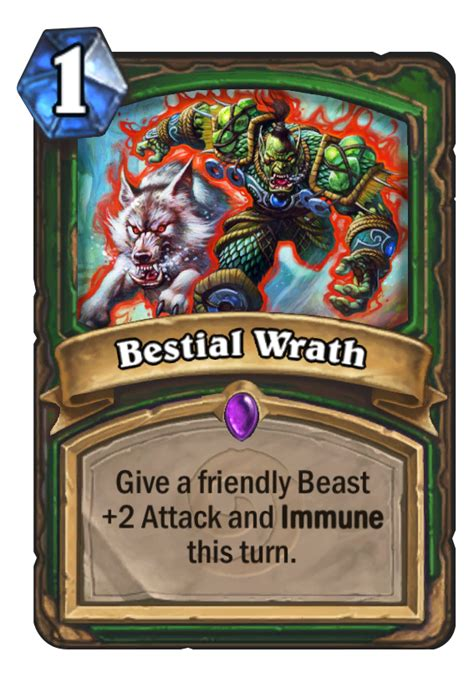 hearthstone beast deck 2014 bestial wrath hearthstone card