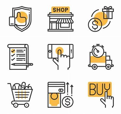 Icon Icons Vector Shopping Retail Business Advertising