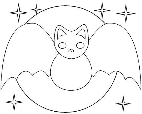 Halloween Bat Coloring Pages : Bats Cute Smile