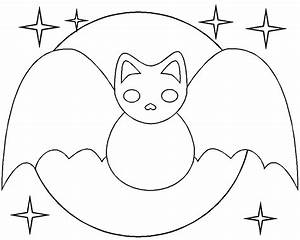 Halloween Bat Coloring Pages : Bats Cute Smile