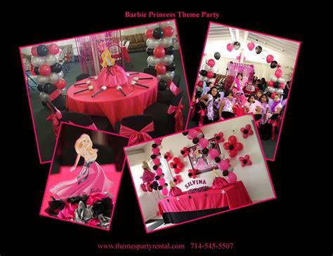 barbie princess theme birthday party table set