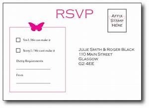 butterfly postcard style rsvp cards vintage wedding With wedding rsvp cards postcard style