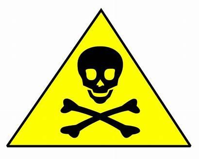 Poison Chemicals Caution Clipart Danger Harmful Skull