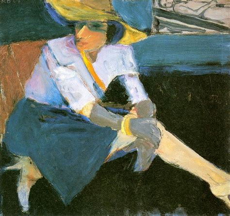 Richard Diebenkorn Woman With Hat And Gloves 1963