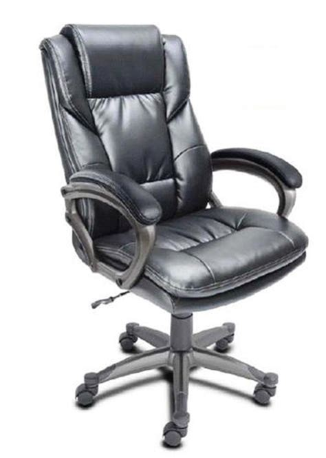 serta 24 quot black bonded leather executive office chair at