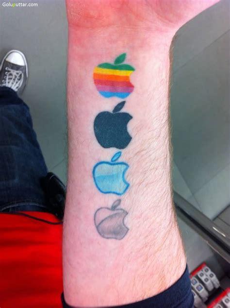 iphone apple logos tattoo  forearm