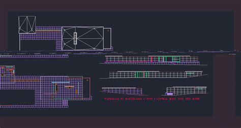 architectural designs house plans barcelona pavilion dwg block for autocad designs cad