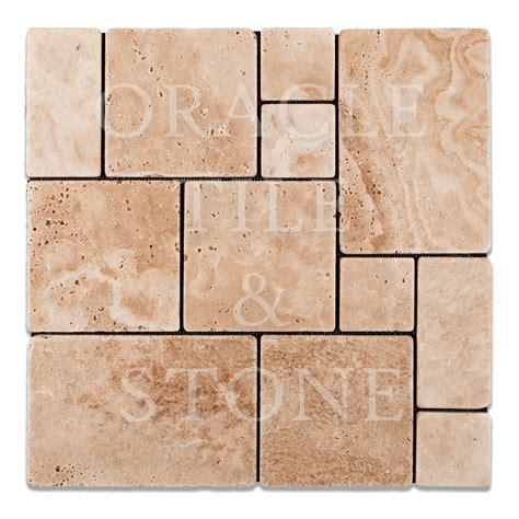 pattern tile andean vanilla travertine opus mini pattern mosaic tile oracle tile stone