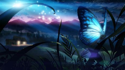 Anime Butterfly Wallpaper - wallpaper anime space sky butterfly insect