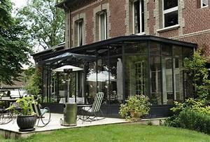 Styl Deco Veranda : veranda en acier style victorien structure noire tr s ~ Premium-room.com Idées de Décoration