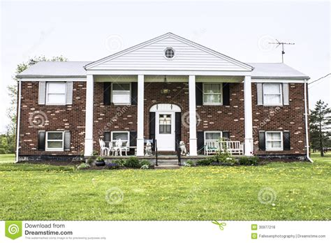 fresh american style home brick raised ranch royalty free stock photos image 30977218